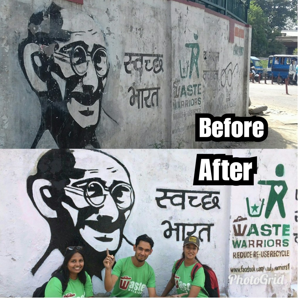 dehradun wall mural before after
