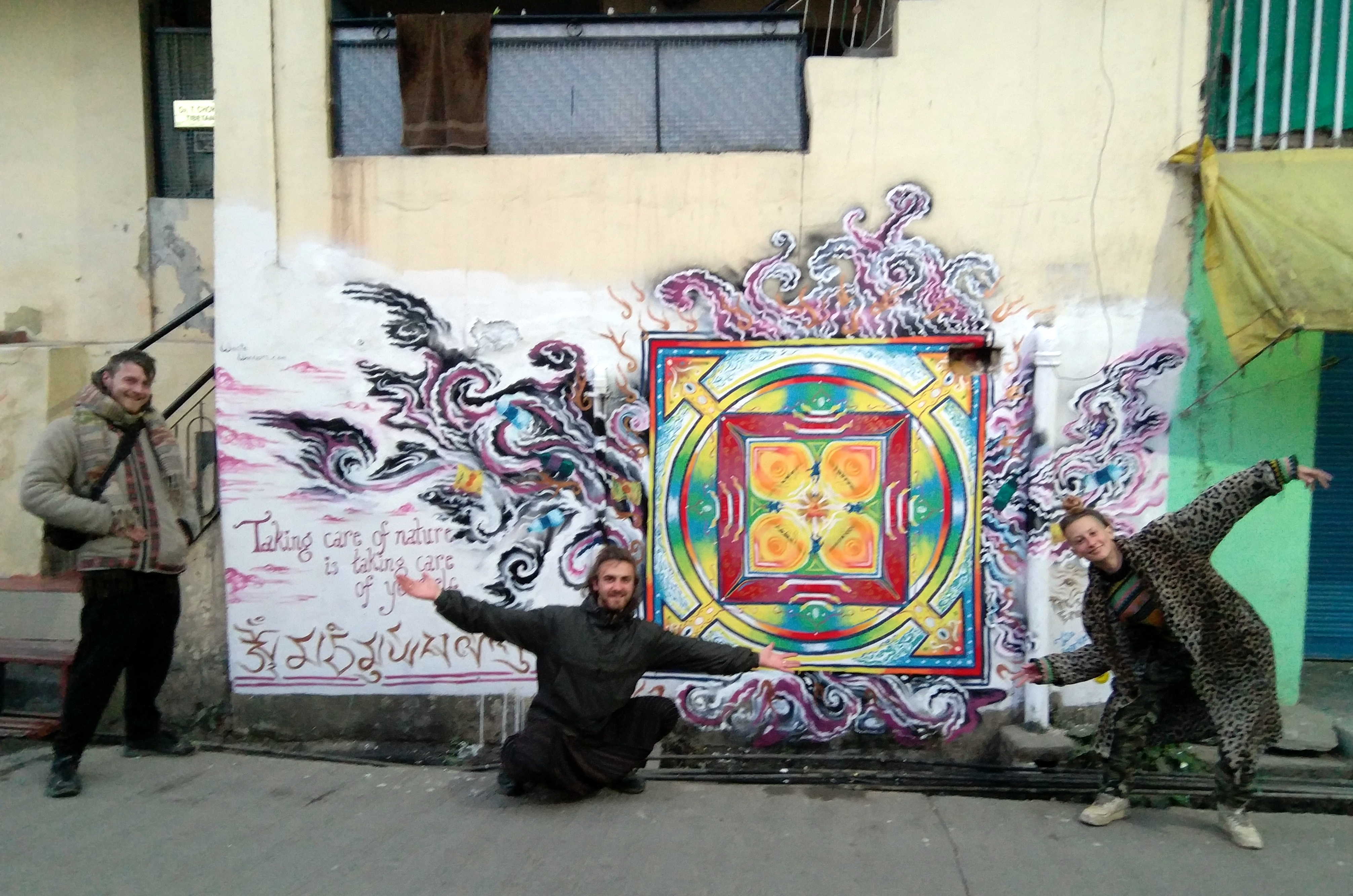 Waste Warriors McLeod Ganj mural by Joey Julia and Jack