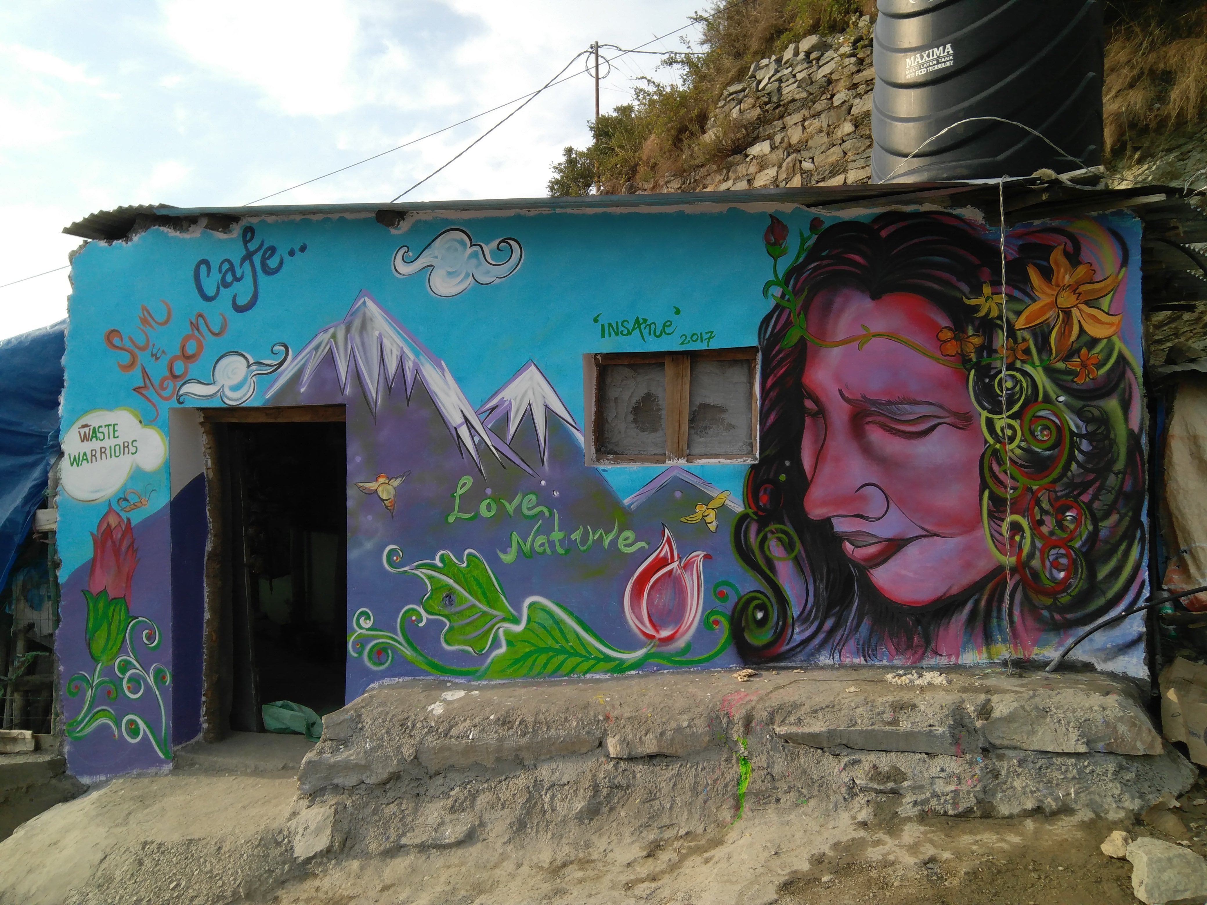 Waste Warriors Mother Nature mural Gallu Triund