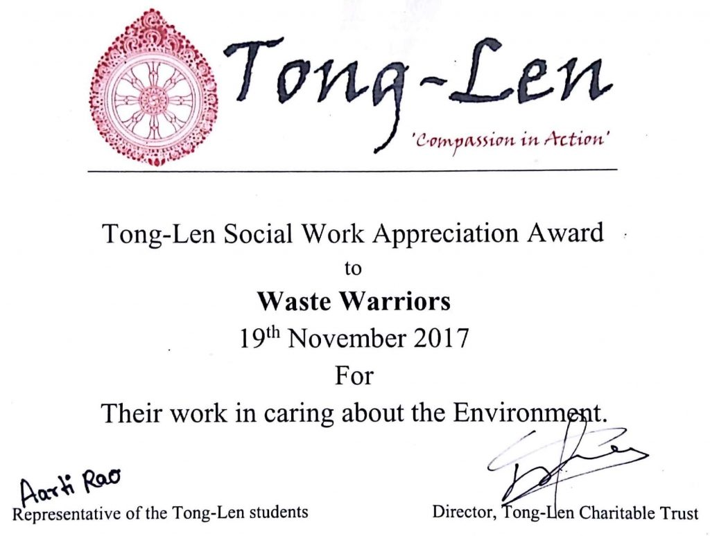 Tong-Len Social Work Appreciation Award 2017
