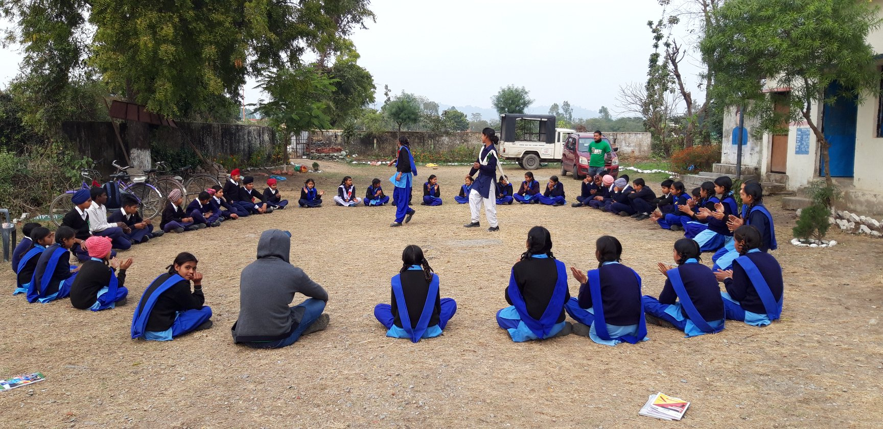 Dance rehearsal by the students in Govt Girls High School, Kanakpur Belparao